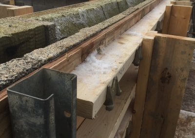 Bracing for ICF lintels using conventional form ties